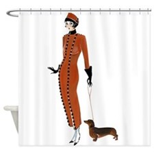 Tilly and Franz.png Shower Curtain