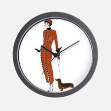 Tilly and Franz.png Wall Clock