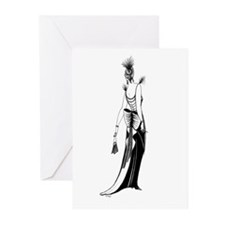 Clairedeparts.png Greeting Cards (Pk of 10)