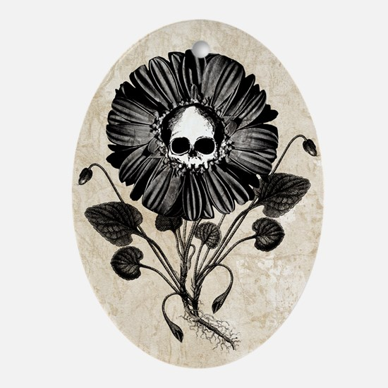 Gothic Flower Ornament (Oval)