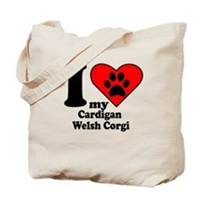 I Heart My Cardigan Welsh Corgi Tote Bag