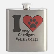I Heart My Cardigan Welsh Corgi Flask
