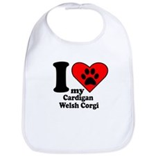 I Heart My Cardigan Welsh Corgi Bib