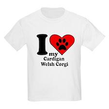 I Heart My Cardigan Welsh Corgi T-Shirt