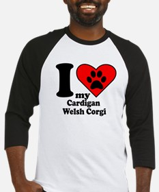 I Heart My Cardigan Welsh Corgi Baseball Jersey