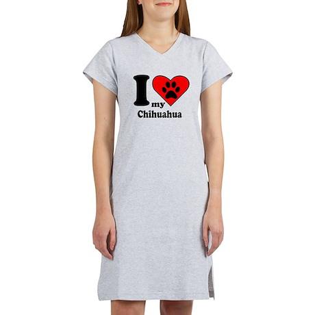I Heart My Chihuahua Women's Nightshirt