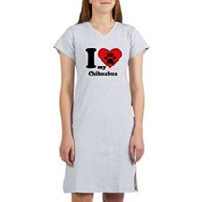 I Heart My Chihuahua Women's Nightshirt