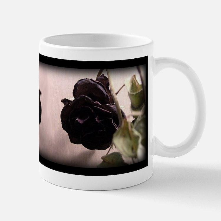 Gothic Dead Rose Mug