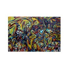 Galactic Painting Rectangle Magnet (10 pack)