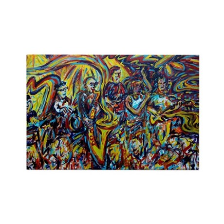 Galactic Painting Rectangle Magnet