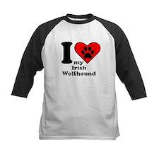 I Heart My Irish Wolfhound Baseball Jersey