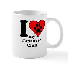 I Heart My Japanese Chin Mug