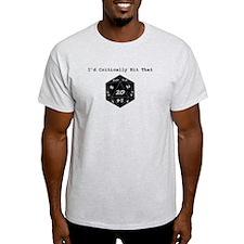 I'd Critically Hit That - Black T-Shirt