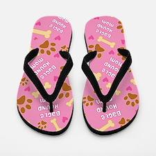 Bagle Hound Mom Gift Flip Flops