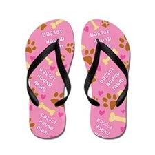 Basset Hound Mom Gift Flip Flops