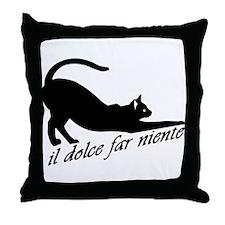 Il Dolce Far Niente | Throw Pillow