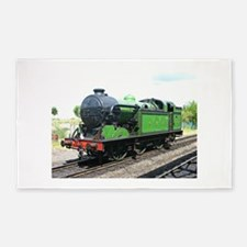 Steam train, Railway gifts 3'x5' Area Rug