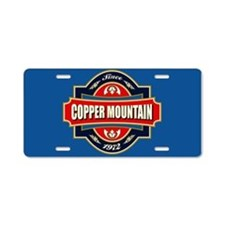 Copper Mountain Old Label Aluminum License Plate