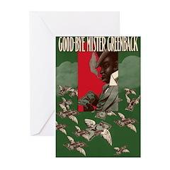 Greenback Dollar Greeting Cards (Pk of 10)