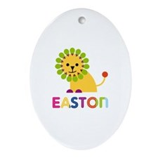 Easton Loves Lions Ornament (Oval)