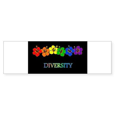 Hibiscus Diversity Rect Bumper Sticker