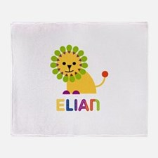 Elian Loves Lions Throw Blanket