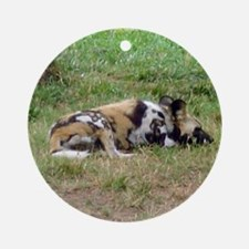wild dog Ornament (Round)