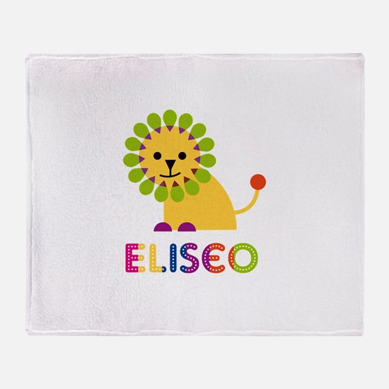 Eliseo Loves Lions Throw Blanket
