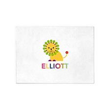 Elliott Loves Lions 5'x7'Area Rug