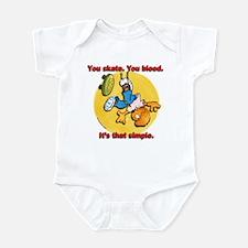 You Skate, You Bleed... Infant Bodysuit