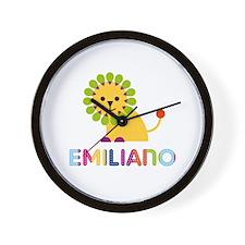 Emiliano Loves Lions Wall Clock