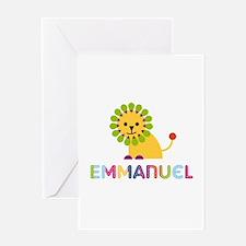 Emmanuel Loves Lions Greeting Card