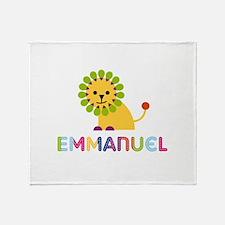Emmanuel Loves Lions Throw Blanket
