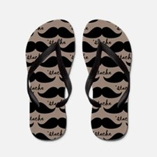 Stache Lover Mustache Flip Flops