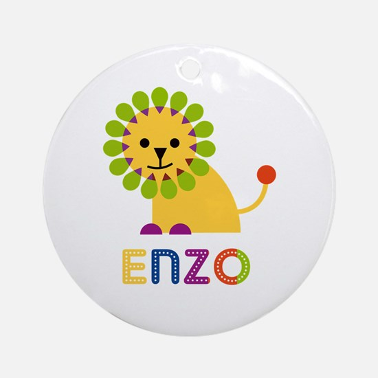 Enzo Loves Lions Ornament (Round)