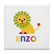 Enzo Loves Lions Tile Coaster