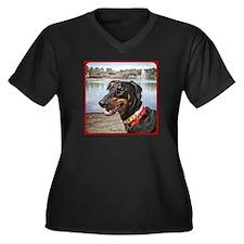 Dobie HD Women's Plus Size V-Neck Dark T-Shirt
