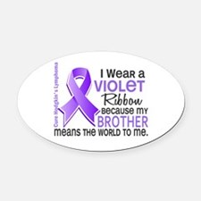 LO Means World H Lymphoma Oval Car Magnet
