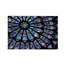 Stained glass window Notre Dame Rectangle Magnet