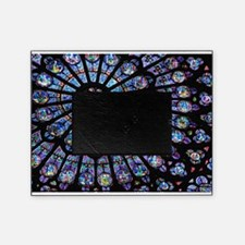 Stained glass window Notre Dame Picture Frame