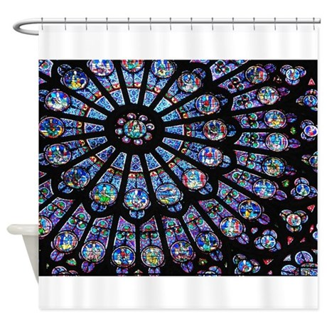 Stained Glass Window Notre Dame Shower Curtain By Janecommonsphotos