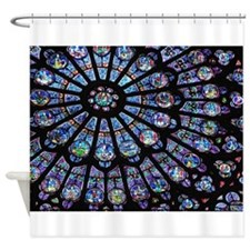 Stained Glass Shower Curtains Stained Glass Fabric Shower Curtain Liner
