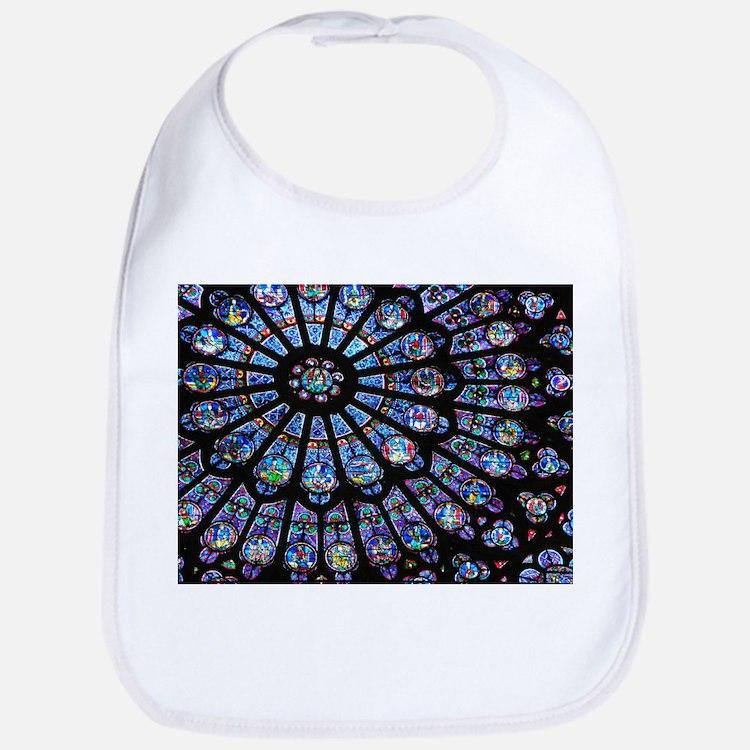 Stained glass window Notre Dame Bib