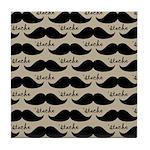 Mustache Gift Tile Coaster