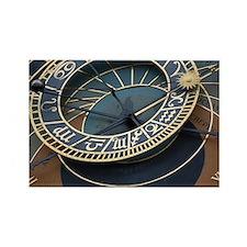 Prague astronomical clock Rectangle Magnet