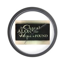 In Christ alone Wall Clock