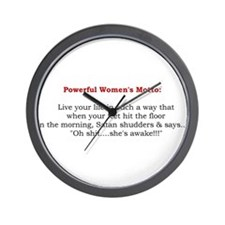 Powerful Womens Motto 2.jpg Wall Clock