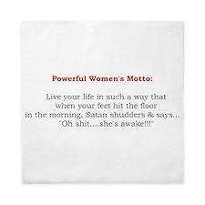 Powerful Womens Motto 2.jpg Queen Duvet