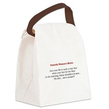 Powerful Womens Motto 2.jpg Canvas Lunch Bag