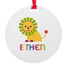 Ethen Loves Lions Ornament